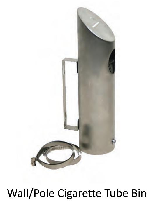 Wall/Pole Cigarette Tube Bin - uClick Solutions