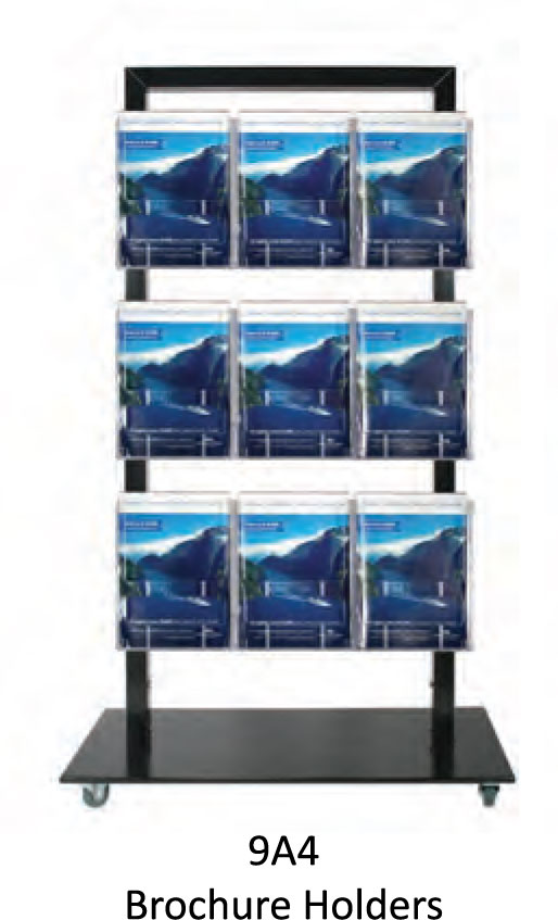Black Mall Stand - uClick Solutions Display Products