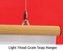Light Wood Grain Snap Hanger - uClick Solutions
