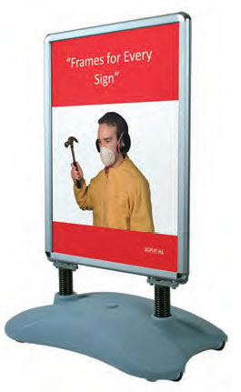 Silver Waterbase Sign - uClick Solutions Display Products