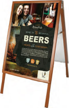 Square Cornered Wood Finish Frame With Poster Backing - uClick Solutions