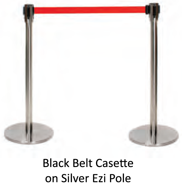 Silver Retractable Barrier Pole - uClick Solutions