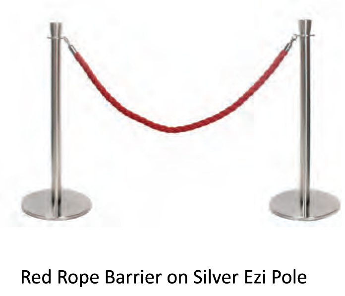 Rope Barrier Pole - uClick Solutions