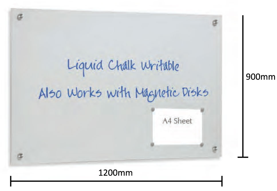 Glass Magnetic Writing Board - uClick Solutions