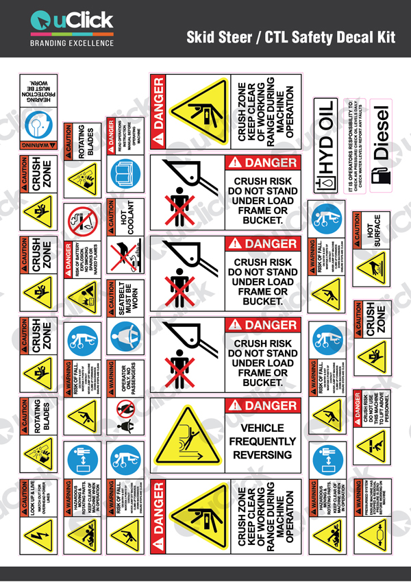 Skid-Steer CTL-Safety-Decal-Kit