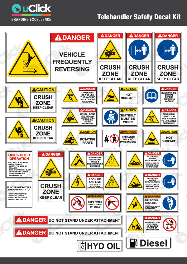 Telehandler-Safety-Decal-Kit