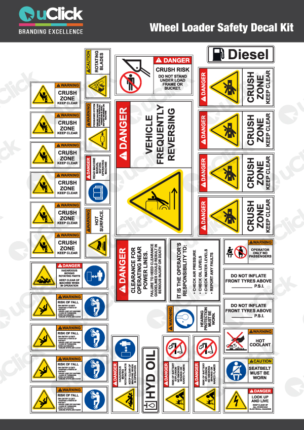 Wheel-Loader-Safety-Decal-Kit
