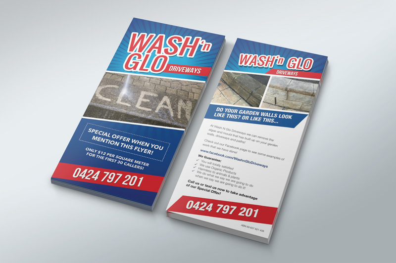 uClick Solutions - Wash n Glo Flyer Design