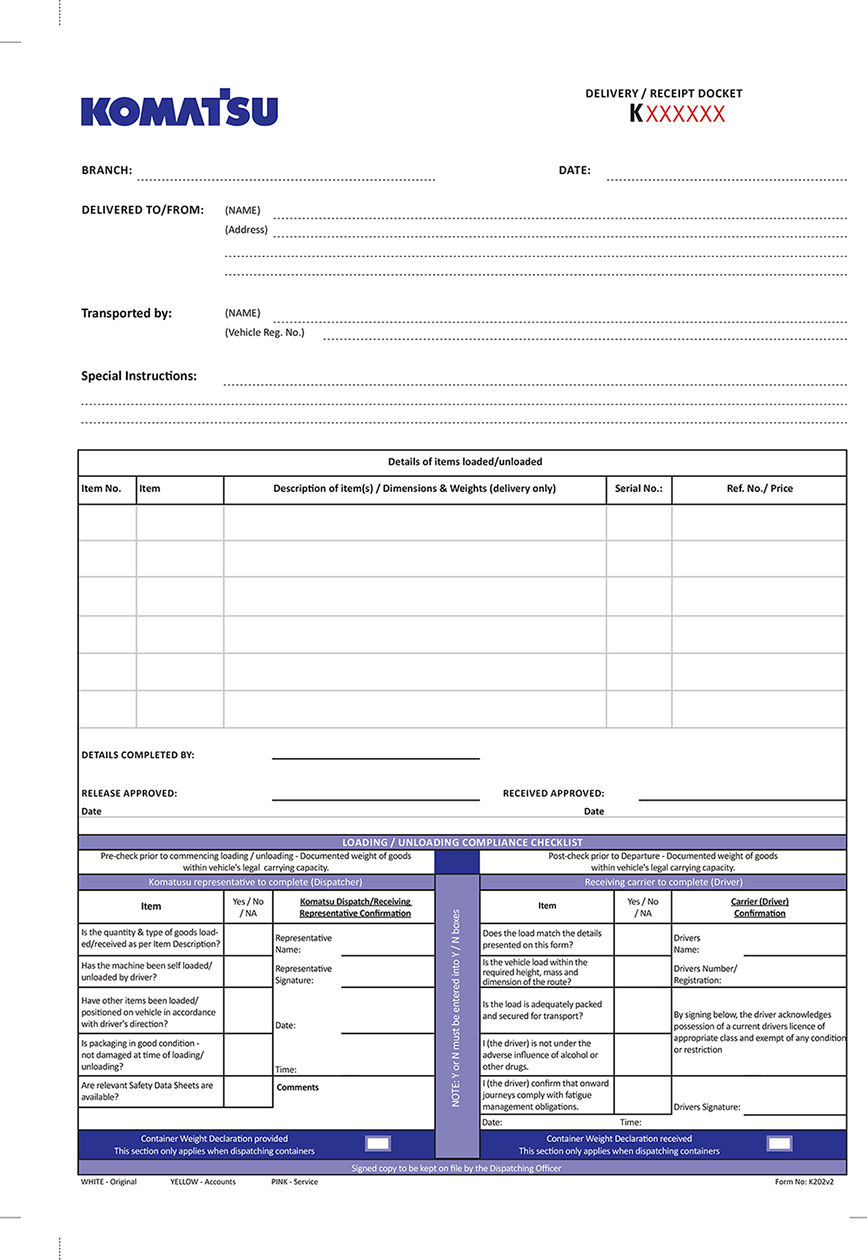 UClick Solutions  Delivery Docket